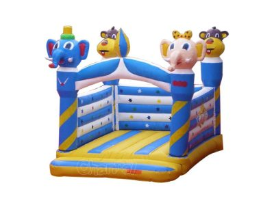 inflatable elephant and monkey castle bouncer