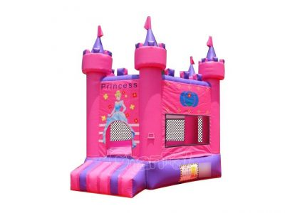 pink princess inflatable castle bouncer