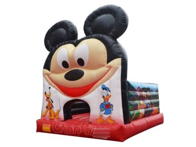 big face mickey mouse inflatable bouncer for kids