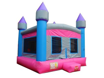 pink blue inflatable castle bouncer