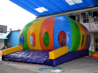 rainbow color inflatable dome bouncer