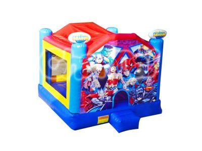 superheroes inflatable bouncer