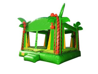 green coconut tree inflatable bouncer