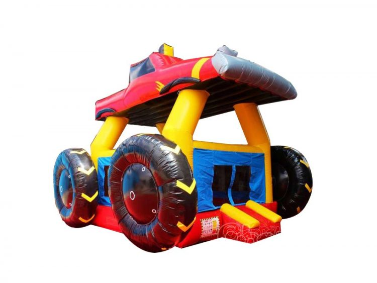 red monster truck inflatable bouncer