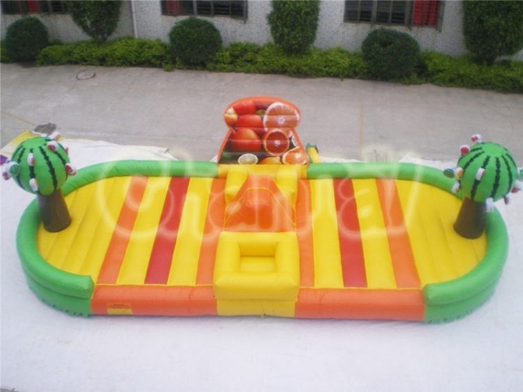 all fruits inflatable bungee run
