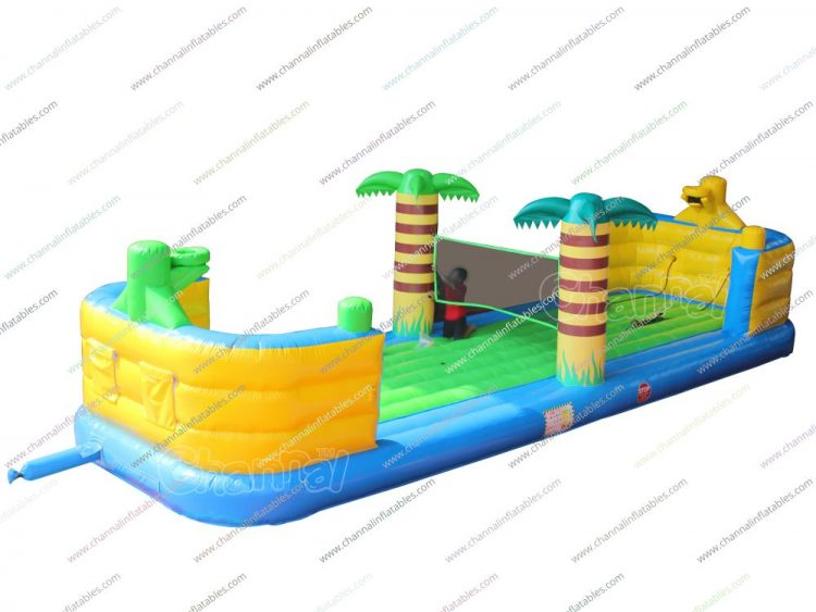 3 in 1 bungee run inflatable playground