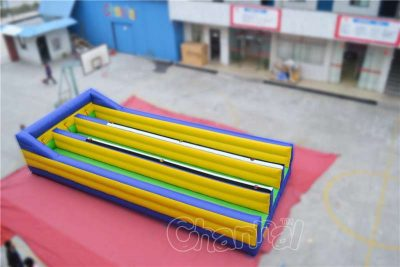 3 lanes inflatable bungee run game for carnivals