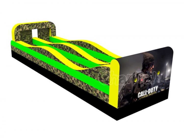 call of duty inflatable bungee run