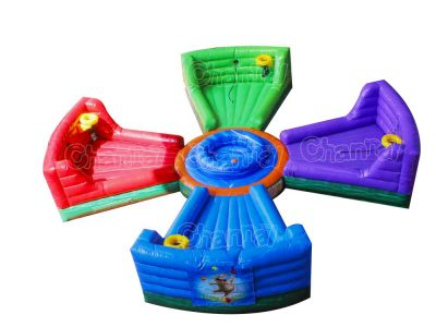 inflatable hungry hippo bungee game