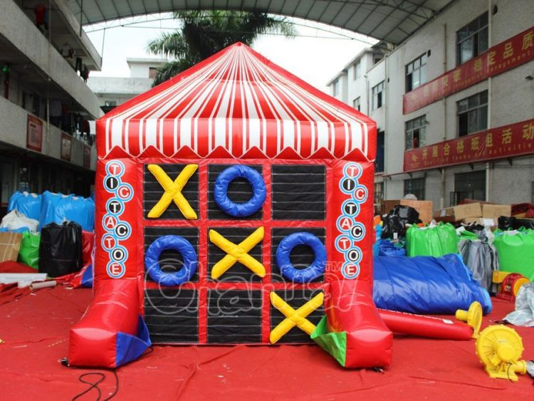 inflatable tic tac toe game