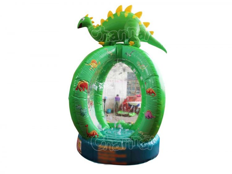 dinosaur themed inflatable cash grab