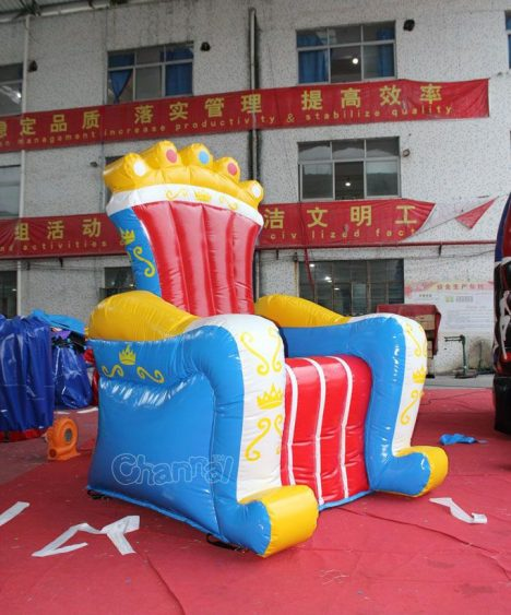 cheap inflatable king throne chair