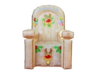 inflatable reindeer rudolph chair for kids