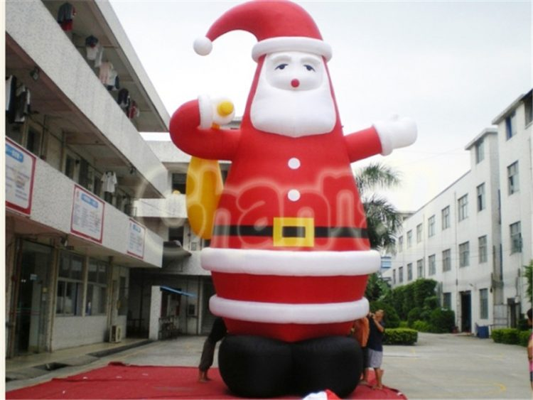 inflatable santa with gifts