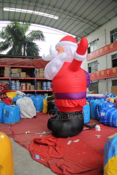 Foot giant inflatable santa claus channal inflatables