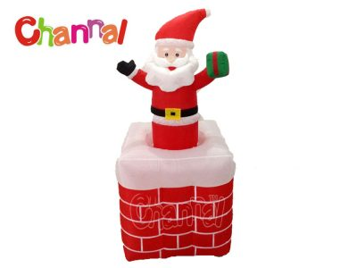 inflatable Santa in chimney up and down
