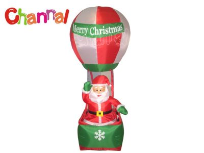 inflatable santa in hot air balloon