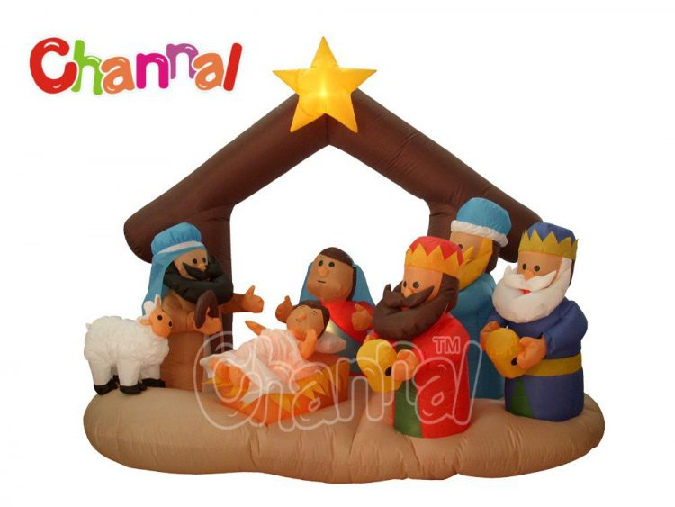 holy inflatable nativity scene with led lights