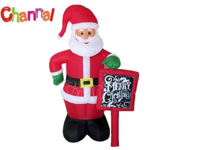 inflatable santa with chalk board