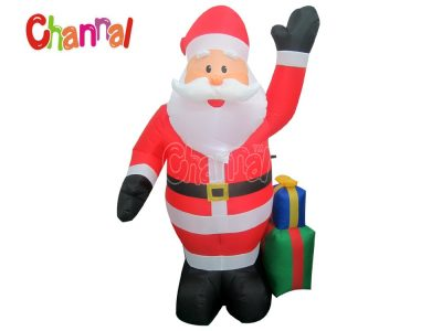inflatable santa with gift box