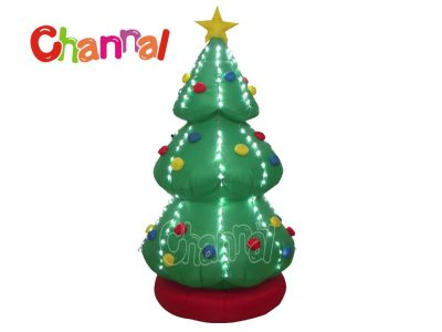 led lights inflatable Christmas tree for home holiday decorations