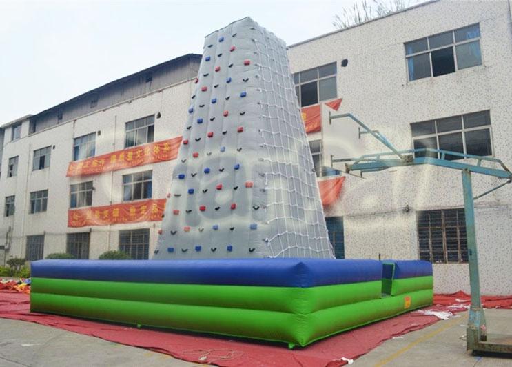 inflatable netting climbing rock wall