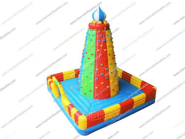 rainbow inflatable climbing cylinder