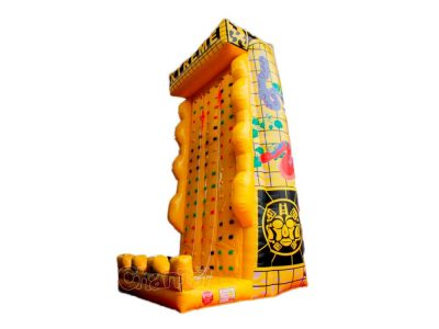 tall inflatable rock climbing wall