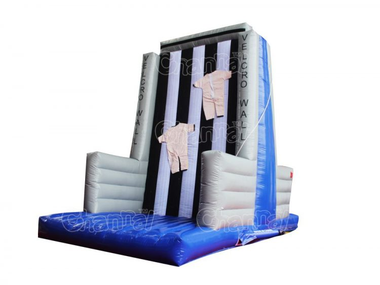 inflatable climbing wall with velcro wall