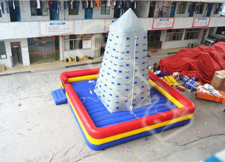 four sides silver inflatable climbing wall