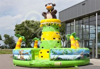 inflatable jungle monkey climbing wall