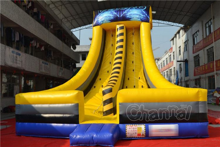 yellow inflatable climbing game