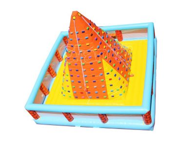 pyramid inflatable climbing wall