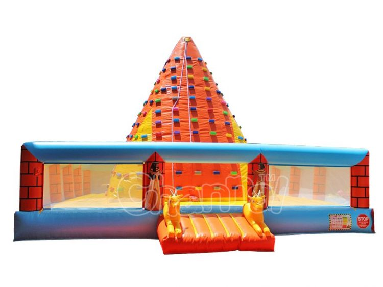 Egypt pyramid inflatable rock wall for kids
