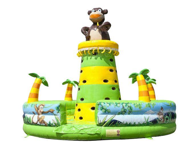 inflatable jungle monkey climbing wall