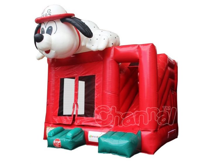 fire dog bounce house