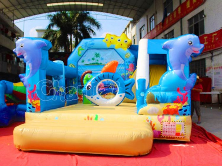 ocean island bounce house with slide