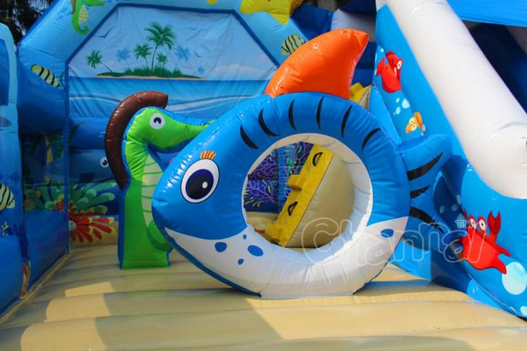 inflatable fish hole obstacle