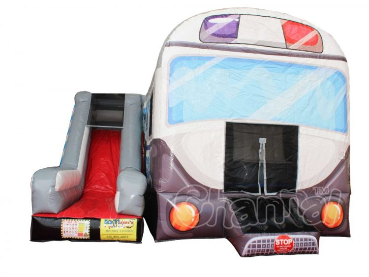 police car inflatable bouncer with slide