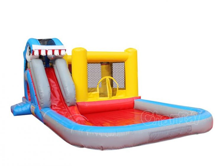 small shark water bounce house for sale
