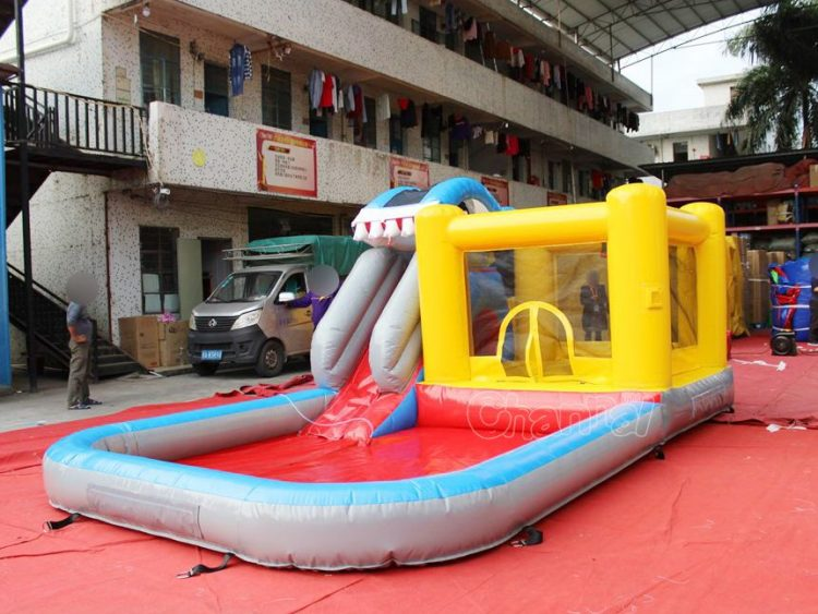 backyard water bounce house for small kids