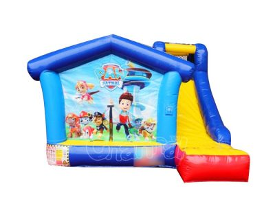 paw patrol inflatable bouncer slide