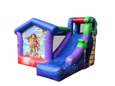 Moana inflatable bouncer with slide for sale