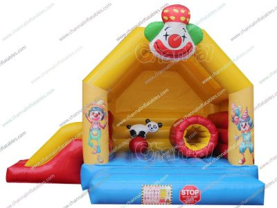 clown circus inflatable combo