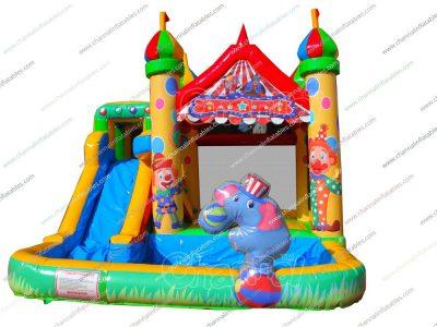 circus bounce slide pool