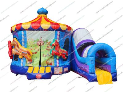 carnival carousel inflatable combo