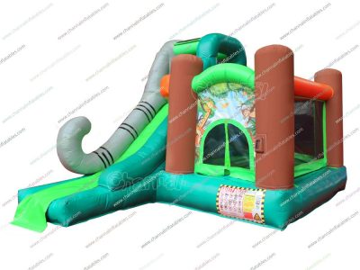 small size wild animal theme inflatable combo