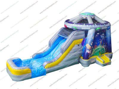 ufo inflatable combo with slide
