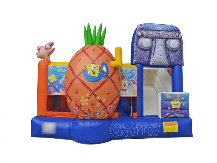 custom commercial 5 in 1 sponge bounce house for sale