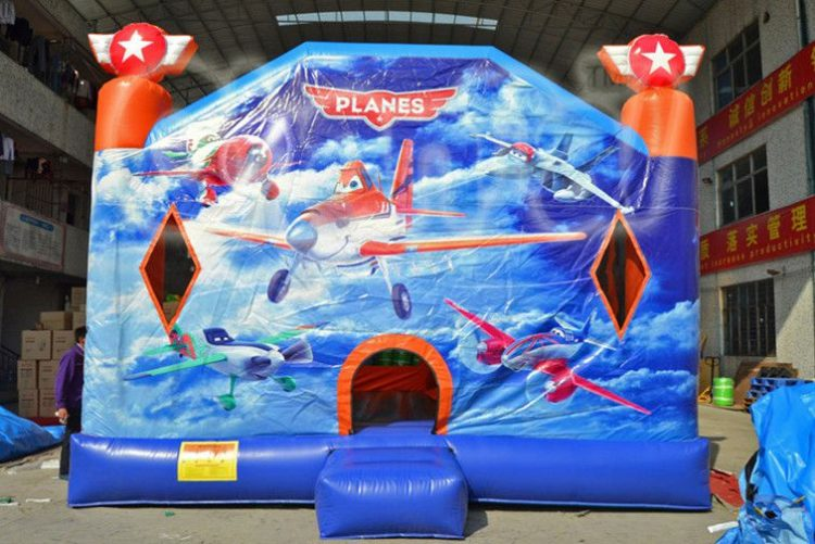 planes movie theme inflatable combo